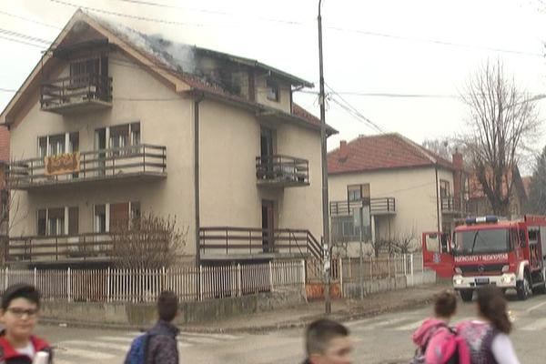 Požar u ulici Ivana Milutinovića u Zaječaru