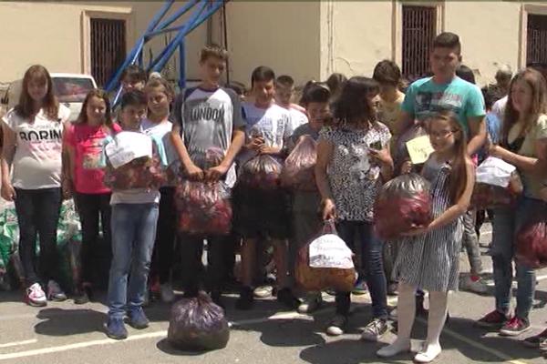 Učenici tri osnovne škole u Zaječaru sakupili 248 kg plastičnih čepova