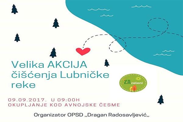 Zaječar: Velika akcija čišćenja Lubničke reke u subotu, 9. septembra