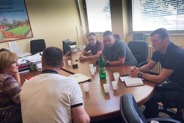 Zaječar: Boško Ničić gradonačelnik Zaječara sastao se sa Predragom Peruničićem državnim sekretarom, predstavnicima Ministarstva sporta i Ministarstva privrede