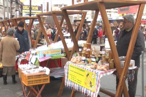 U Zaječaru počeo Novogodišnji bazar