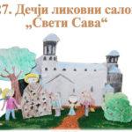 Knjaževac:  Otvaranje 27. Dečijeg likovnog salona Sv. Sava