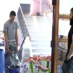 Uređenje hodnika u zaječarskoj Gimnaziji pre početka školske godine