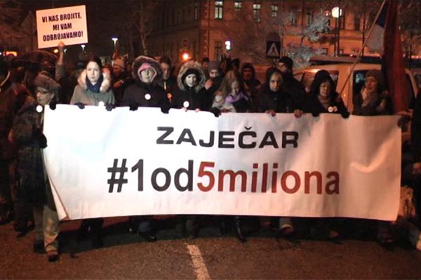 ZAJEČAR:Održan drugi protest #1od5miliona