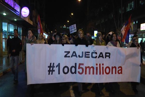 U Zaječaru održan 3. protest #1od5miliona
