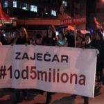 Održan 9. građanski protest u Zaječaru #1od5miliona